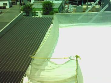 遮熱塗料を塗った後の屋上写真