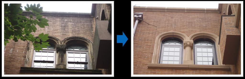外壁の除カビ・防かび工事写真