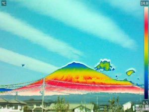 富士山の赤外線写真