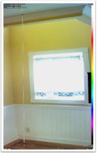 床から天井までの温度を測定した可視画像