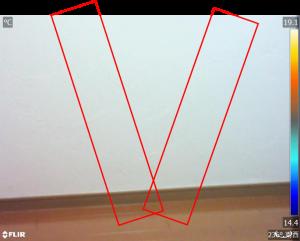 赤外線写真 サーモグラフィ調査 筋交い調査