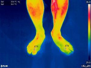 体温の赤外線撮影写真