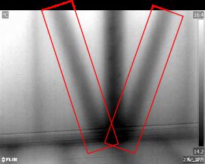赤外線写真 筋交い調査 サーモグラフィ リフォーム診断 耐震調査