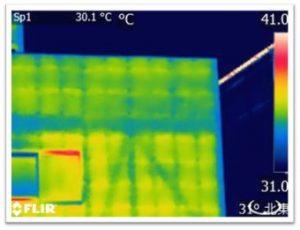 赤外線 筋交い調査画像